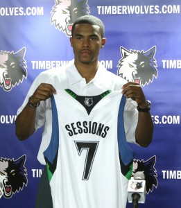 Sessions, presentado en Minnesota (David Sherman/NBAE via Getty Images)